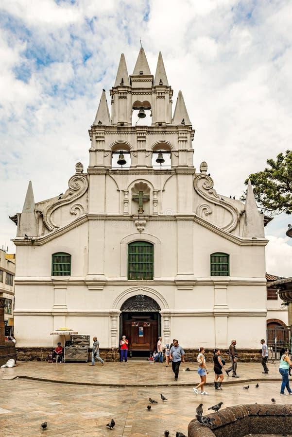 Chiesa cattolica di Veracruz della La e la sola chiesa coloniale i di stile fotografie stock