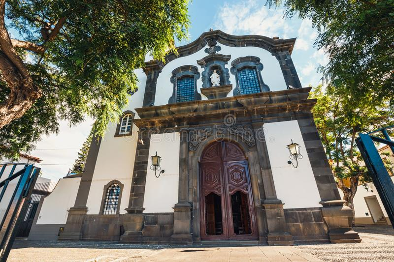 Chiesa cattolica a Funchal, Madera fotografie stock