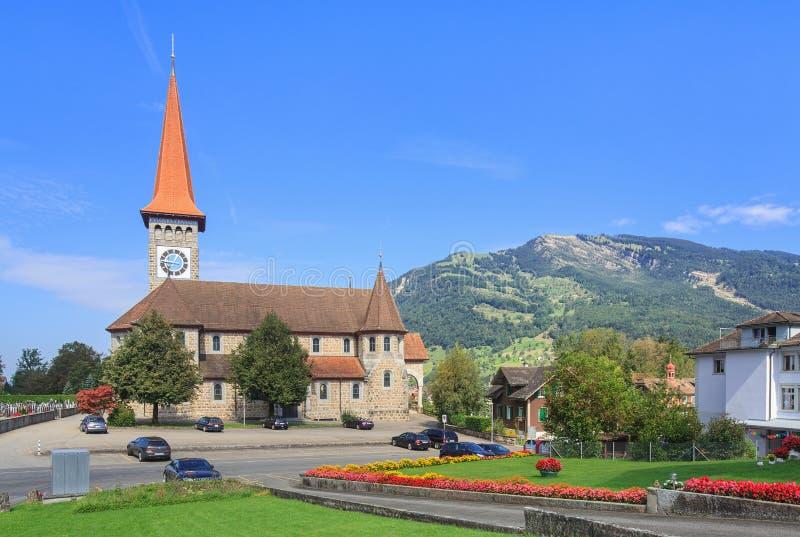 Chiesa cattolica in Goldau immagini stock