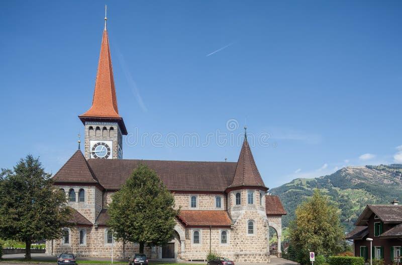 Chiesa cattolica in Goldau immagine stock