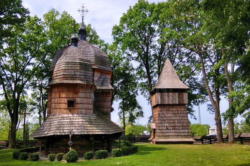 Chiesa cattolica greca ucraina di legno della madre santa di Dio immagini stock