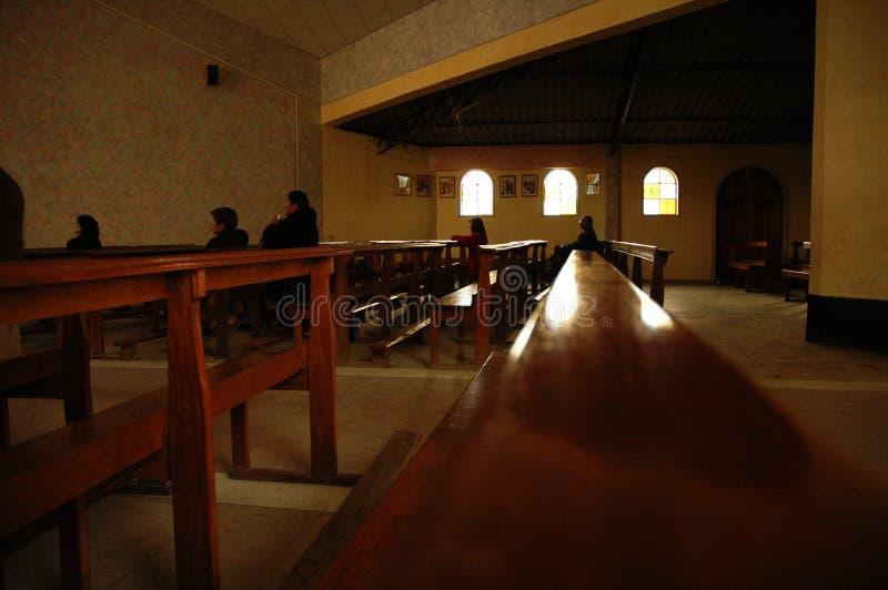 Chiesa cattolica in Huaraz Perù.   fotografie stock libere da diritti