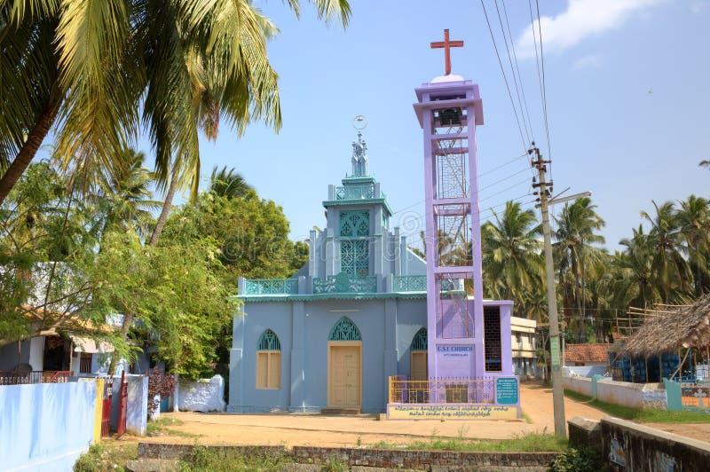 Chiesa cattolica in Kanyakumari. fotografia stock