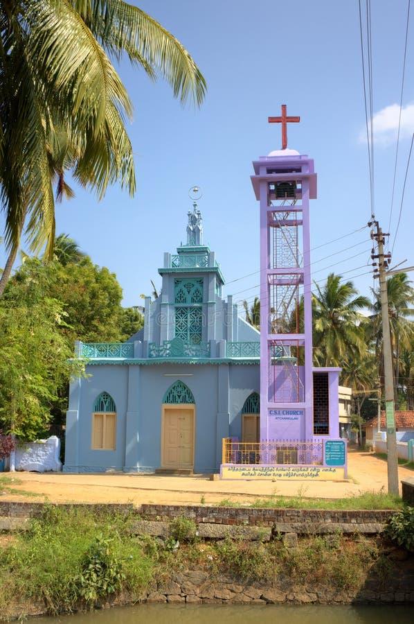Chiesa cattolica in Kanyakumari. immagine stock