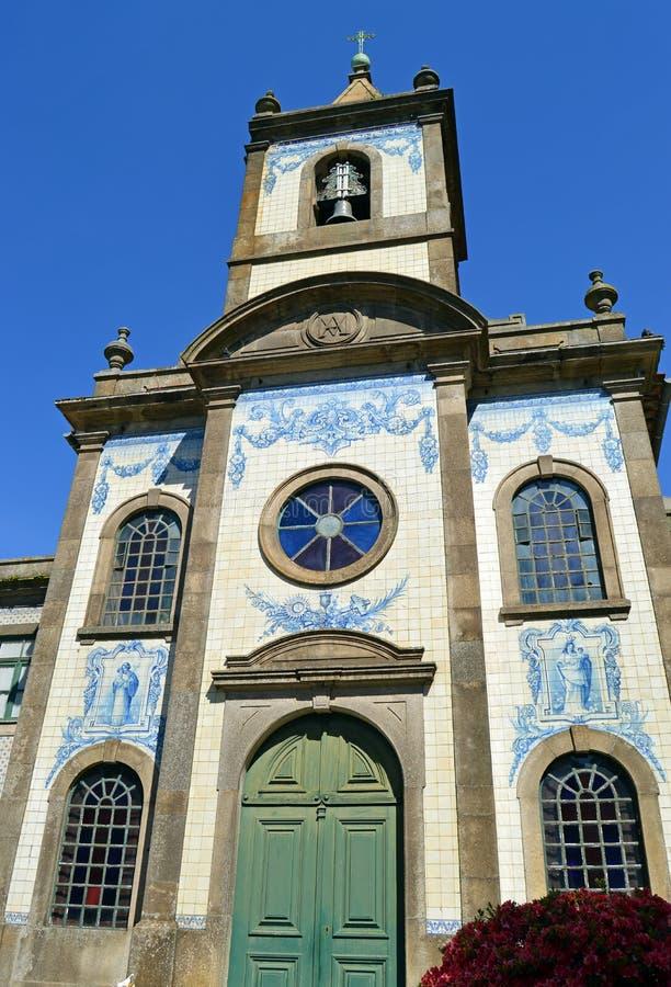Chiesa cattolica a Oporto, Capela de Fradelos, Portogallo fotografia stock libera da diritti