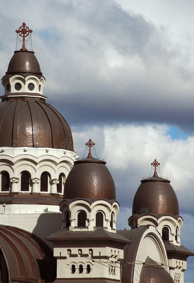 Chiesa cattolica romana in Romania fotografia stock