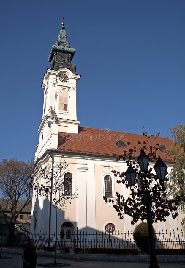 Chiesa cattolica romana, Sombor, Serbia fotografie stock libere da diritti
