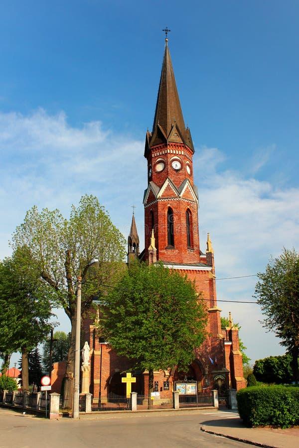 Chiesa cattolica romana in Stalowa Wola, Polonia fotografia stock libera da diritti