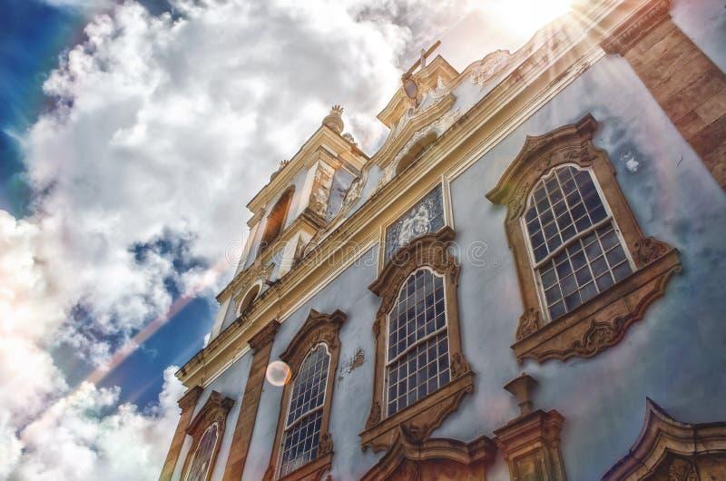 Chiesa cattolica - Salvador - Bahia Il Brasile | Rubem Sousa Forum il Box® fotografie stock libere da diritti