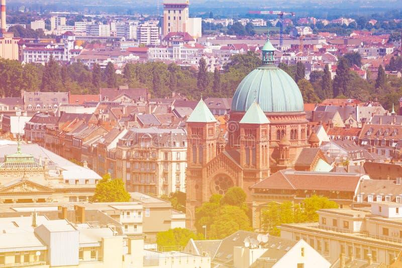 Chiesa cattolica San-Pierre-le-Jeune, Strasburgo immagini stock libere da diritti