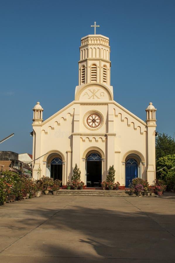 Chiesa cattolica St Teresa in Savannakhet, Laos fotografia stock libera da diritti