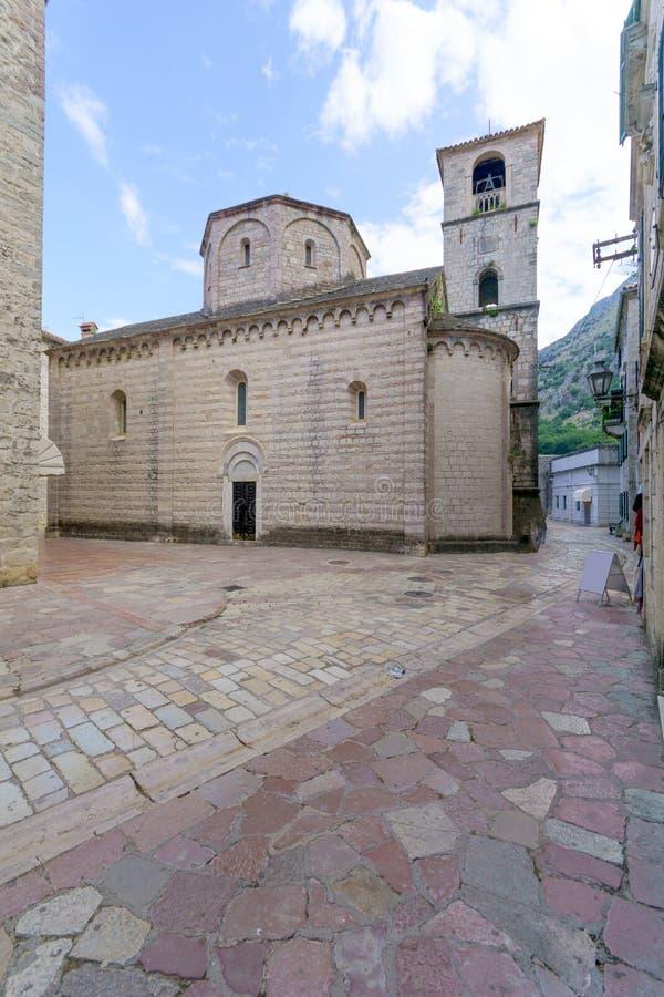 Chiesa collegiale della st Marys, Cattaro immagine stock libera da diritti