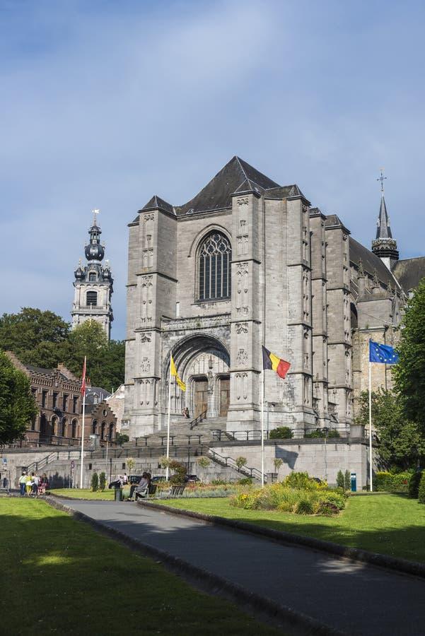 Download Chiesa Collegiale Di Waudru A Mons Fotografia Stock Editoriale - Immagine di caratteristico, omogeneo: 55357738
