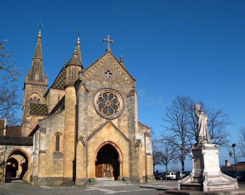Chiesa collegiale, Neuchatel CH fotografie stock