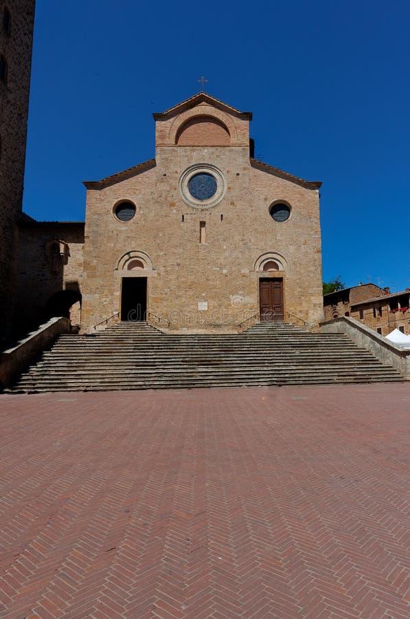 Chiesa collegiale San Gimignano, Toscana, Toscana, Italia, Italia del duomo immagine stock libera da diritti