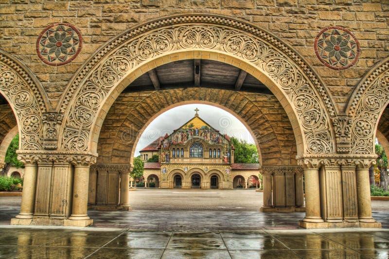 Chiesa commemorativa HDR dell'Università di Stanford fotografie stock libere da diritti