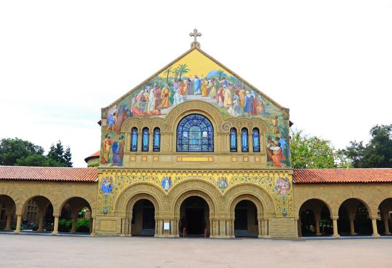 Chiesa commemorativa a Stanford University immagine stock
