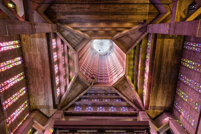 Chiesa contemporanea le Havre Francia di Saint Joseph immagini stock libere da diritti