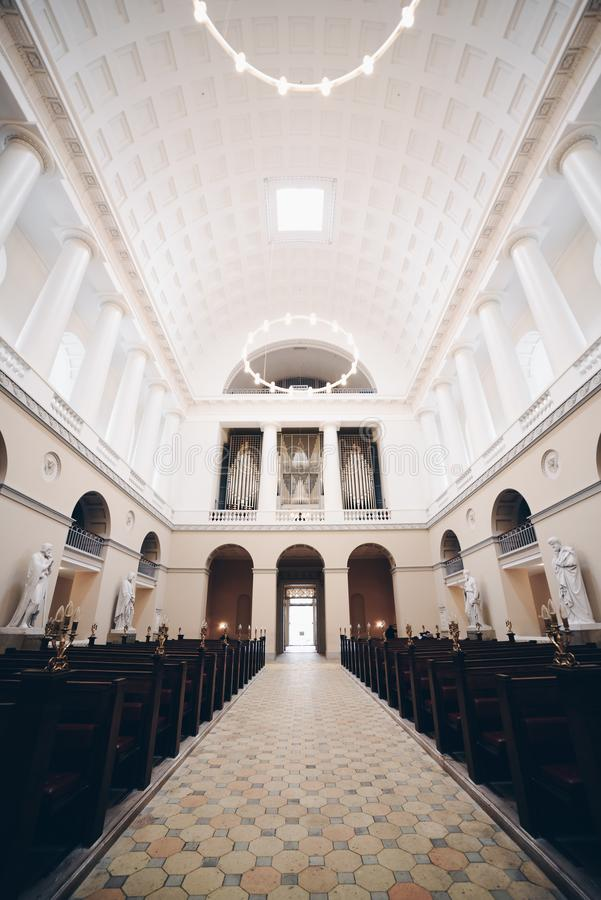 Chiesa a Copenhaghen, Danimarca immagini stock libere da diritti