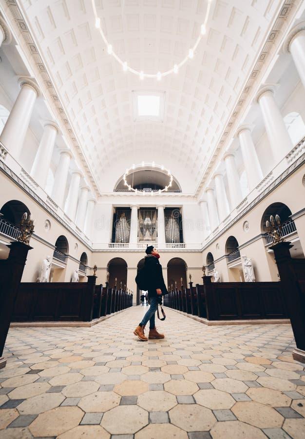 Chiesa a Copenhaghen, Danimarca immagine stock