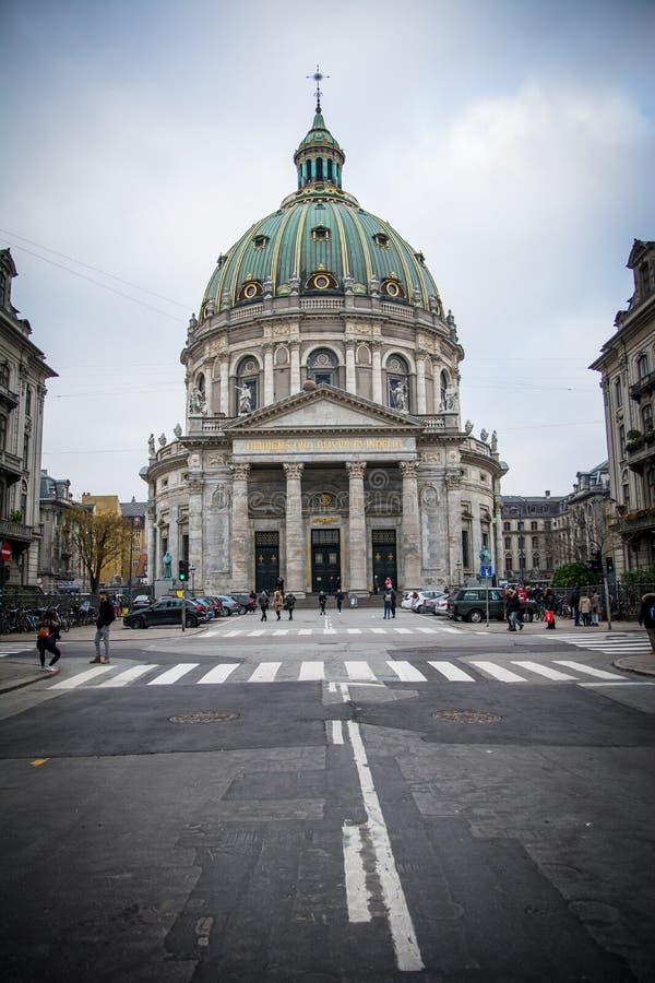Chiesa Copenhaghen del marmo della chiesa di Frederikdenmark fotografia stock libera da diritti