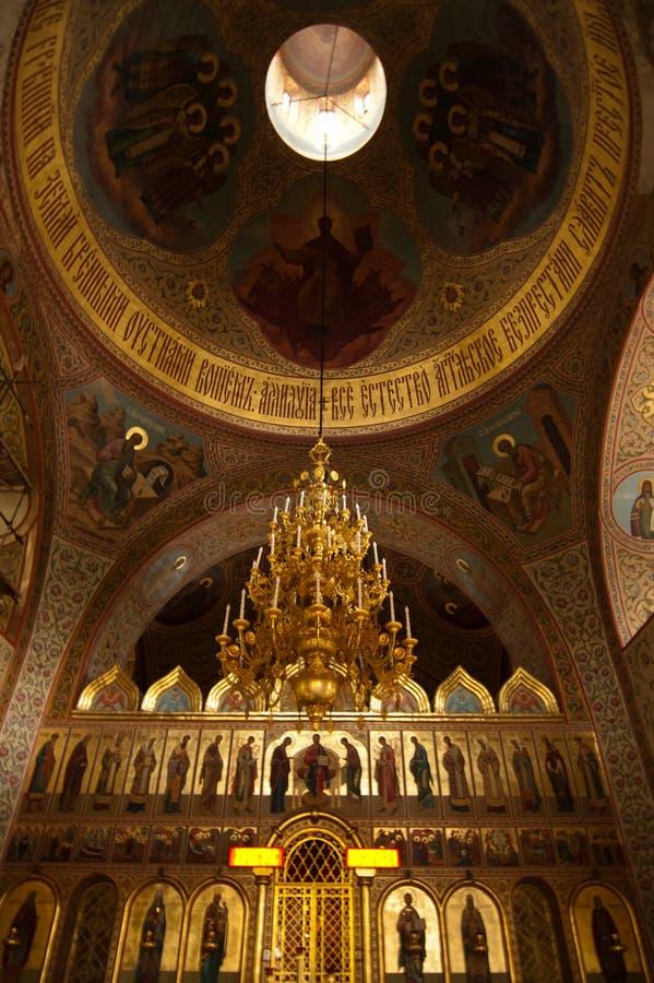 Chiesa cristiana a Mosca fotografia stock