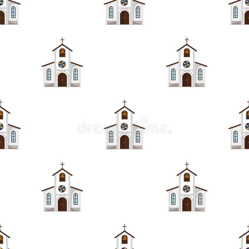 Chiesa in cui la sposa e lo sposo conducono un rito prima delle nozze Singola icona di nozze nel simbolo di vettore di stile del  illustrazione vettoriale