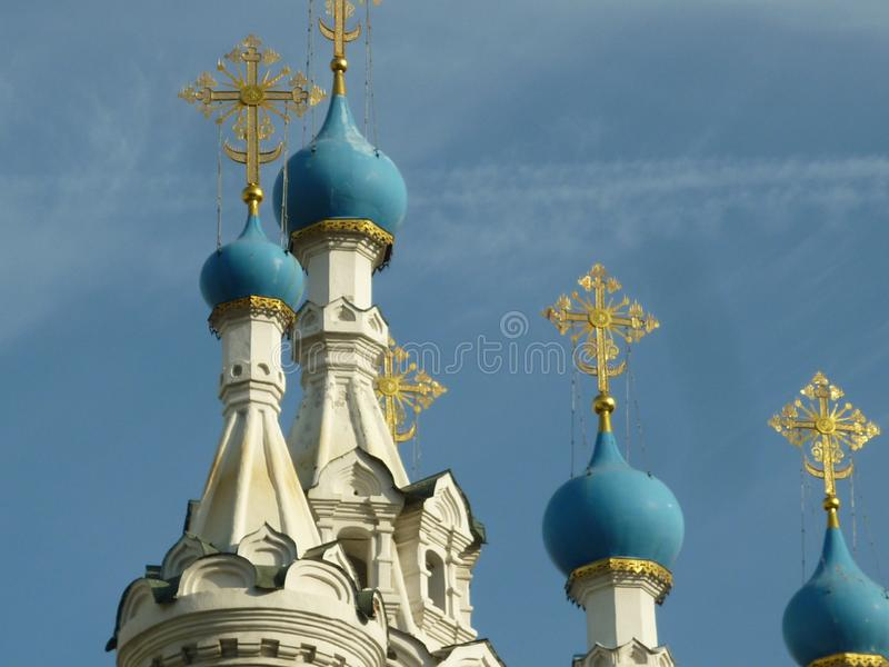 Chiesa, cupole immagine stock