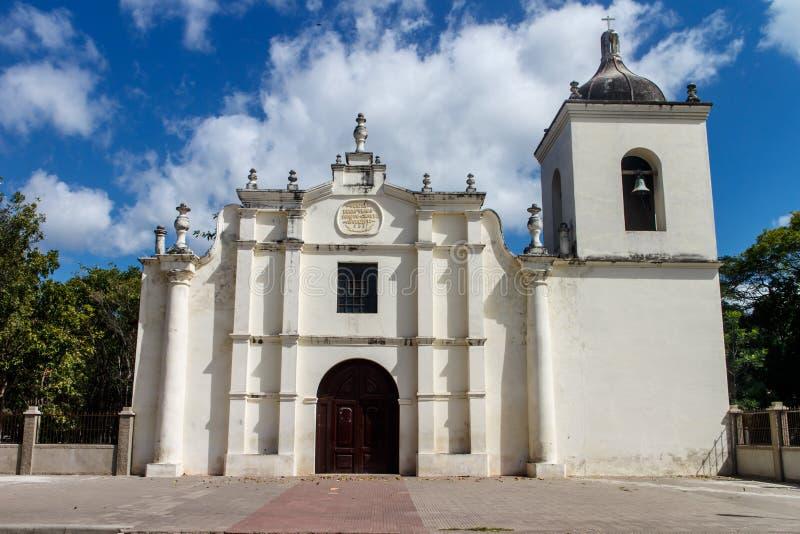 Chiesa da Somoto all'aperto con il cielo nuvoloso immagine stock