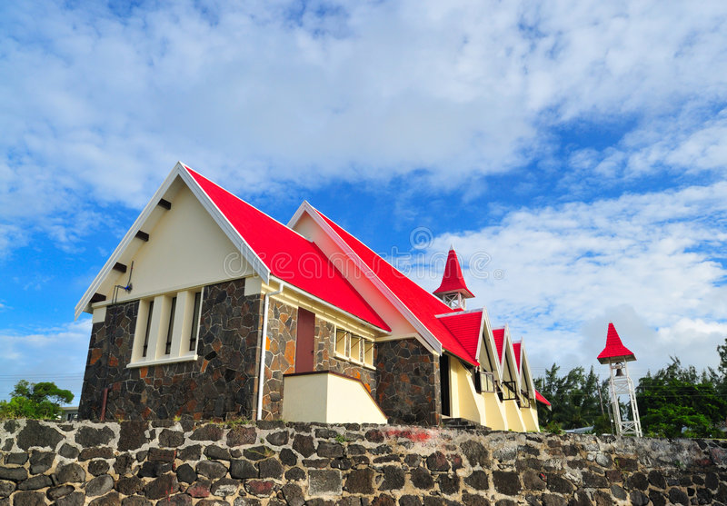Chiesa dal mare fotografia stock