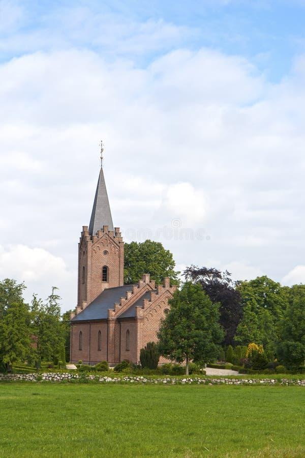 Chiesa danese del villaggio fotografia stock