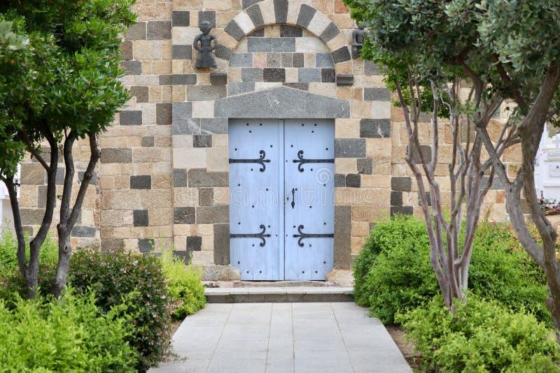 Chiesa de la trinite sulla Corsica Francia immagini stock libere da diritti