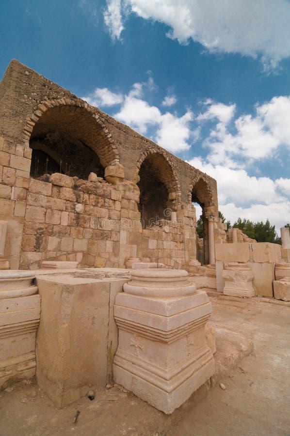 Chiesa dei crociati in Beit Guvrin fotografie stock