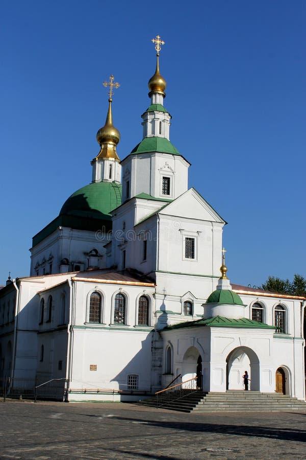 Chiesa dei padri santi di sette Consigli ecumenici nella st Daniel Monastery a Mosca immagine stock libera da diritti