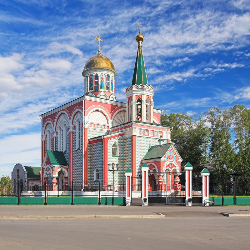 Chiesa dei san Konstantin ed Elena a Abakan fotografia stock libera da diritti