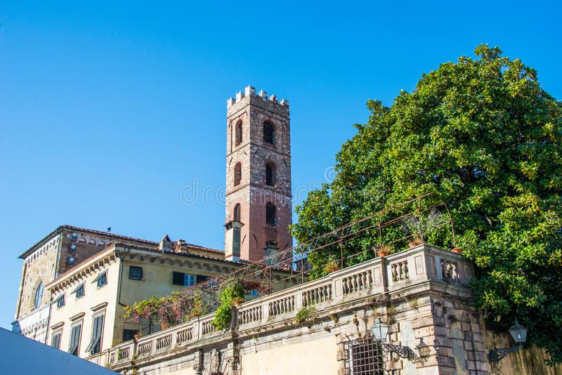 Chiesa dei Santi Giovanni e Reparata. This is the church of Saint Giovanni and Reparata in Lucca, Italy. It is in the center of the city royalty free stock photo