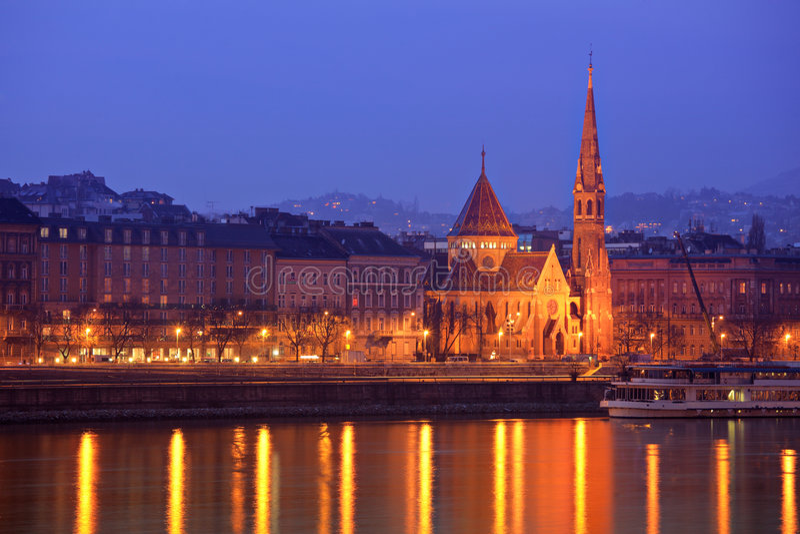 Chiesa del Calvinist a Budapest fotografia stock