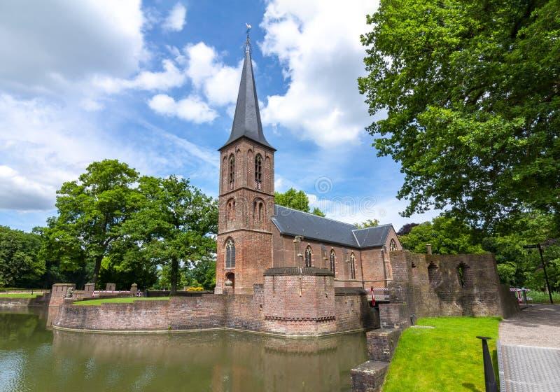 Chiesa del castello di De Haar, Utrecht, Paesi Bassi fotografia stock libera da diritti