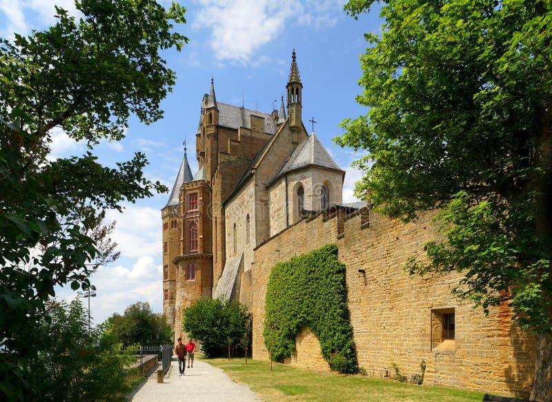 Chiesa del castello di Hohenzollern fotografia stock