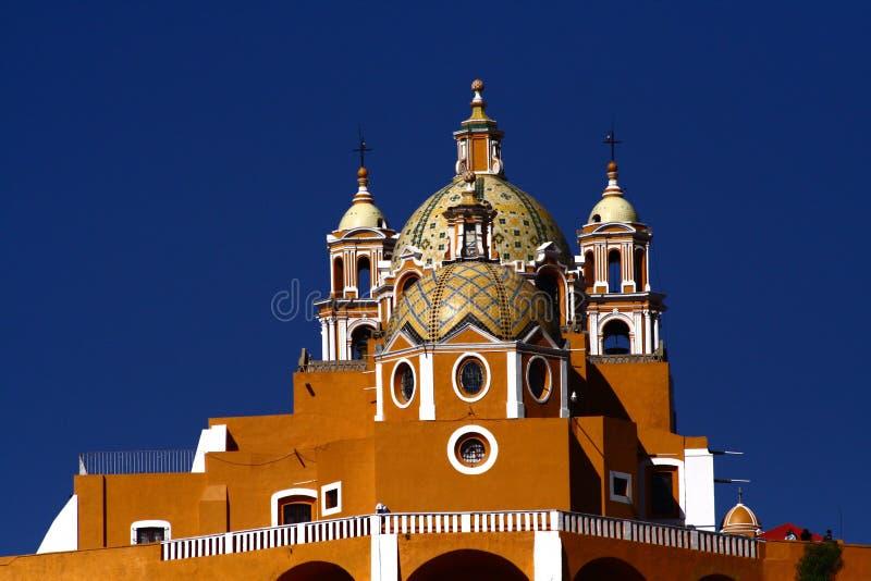 Chiesa del cholula fotografie stock libere da diritti