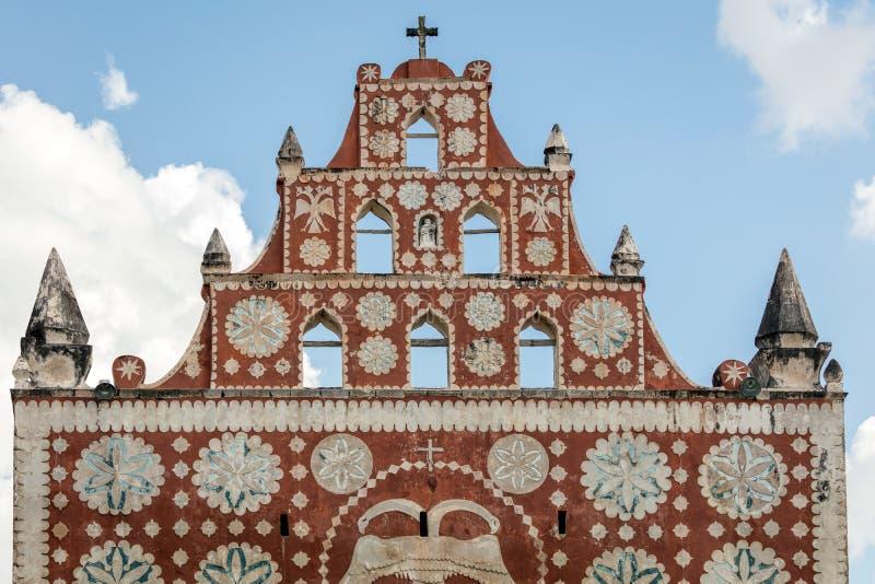 Chiesa del convento di St Dominic in Uayma, Messico fotografie stock