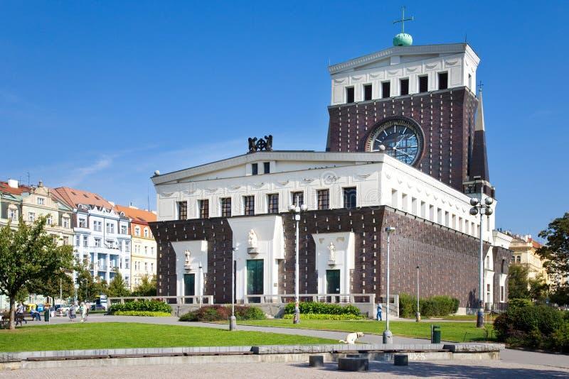 Chiesa del cuore più sacro del nostro signore, Praga, repubblica Ceca fotografia stock