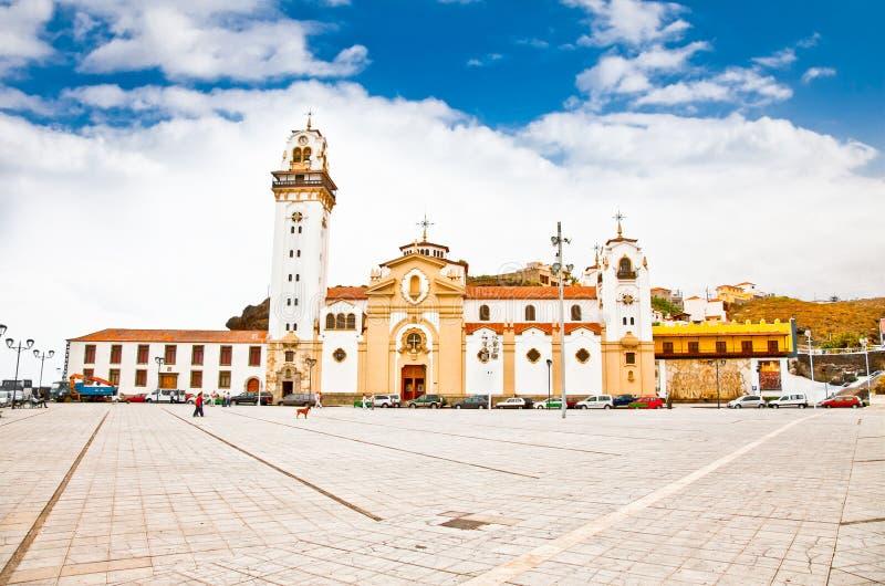 Chiesa del de Candelaria della basilica a Candelaria, Tenerife, Spagna. fotografia stock libera da diritti