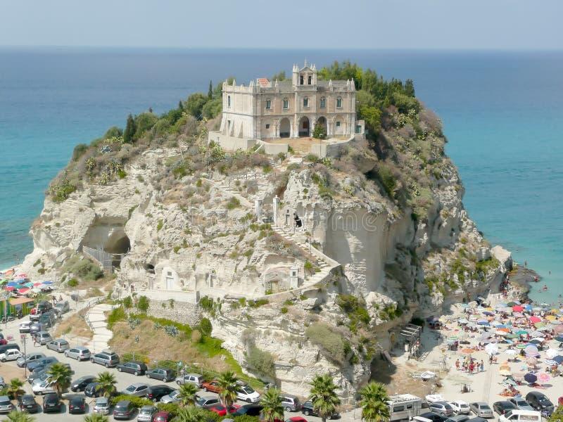 Chiesa del dell'Isola di Santa Maria, Tropea, Italia immagini stock libere da diritti