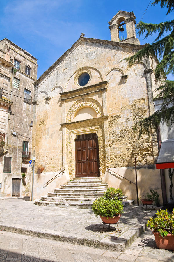 Chiesa del delle Grazie di Madonna. Montescaglioso. La Basilicata. fotografie stock libere da diritti