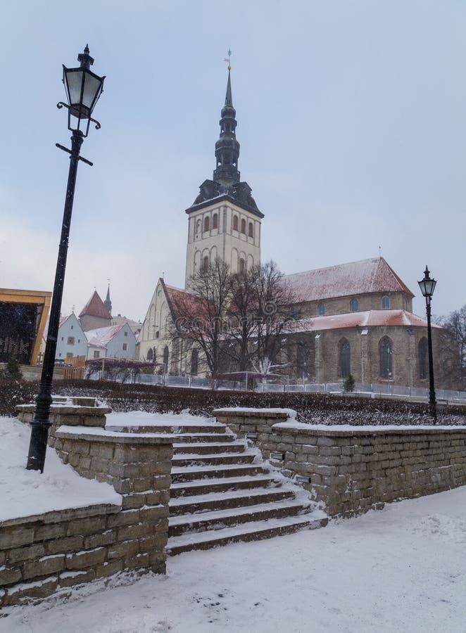 Chiesa del ` di San Nicola e museo, Tallinn fotografie stock