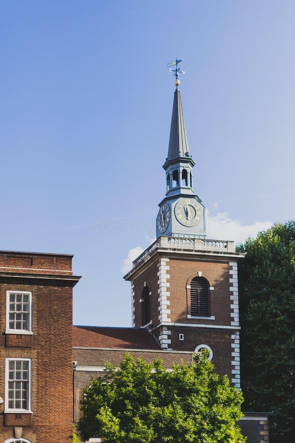 Chiesa del ` di St James in via di Piccadilly fotografia stock libera da diritti