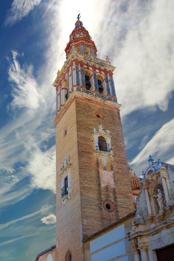 Chiesa del EL Carmen nella città andalusa di Ecija, Spagna immagine stock libera da diritti