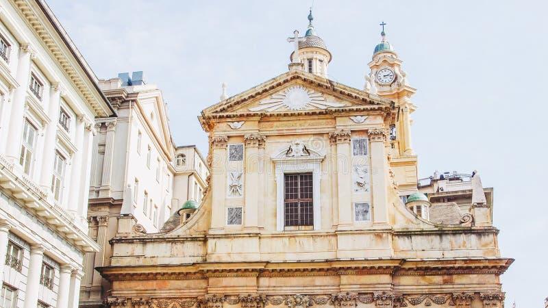 Chiesa del Gesu στη Γένοβα στοκ εικόνα με δικαίωμα ελεύθερης χρήσης