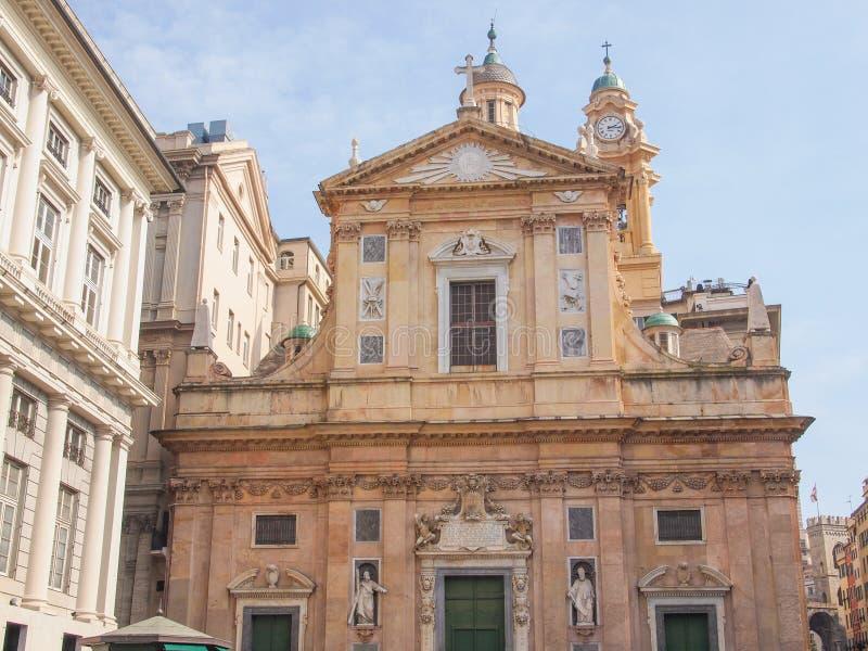 Download Chiesa del Gesu in Genua stock foto. Afbeelding bestaande uit architectuur - 39114716